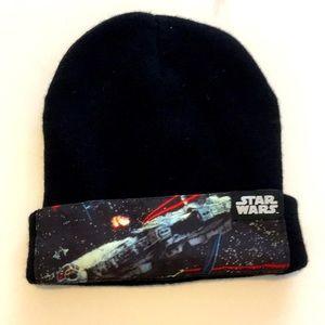 Star Wars Beanie Knit Hat Black Winter Men Woman